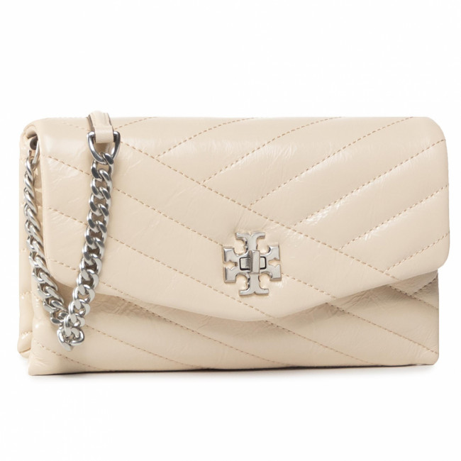 Kabelka TORY BURCH - Kira Chavron Distressed Chain Wallet 75451 New Cream 122