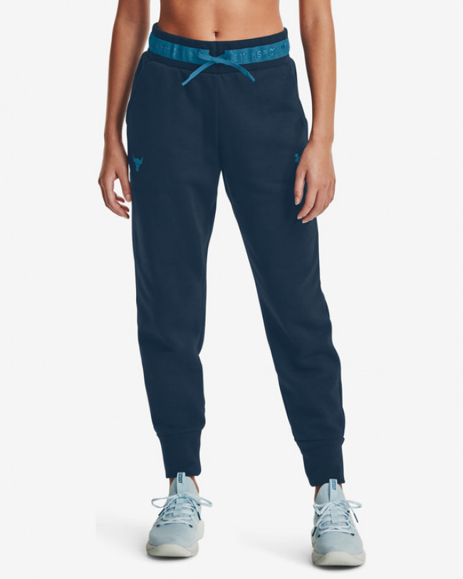 Under Armour Project Rock Charged Cotton Fleece Tepláky Modrá