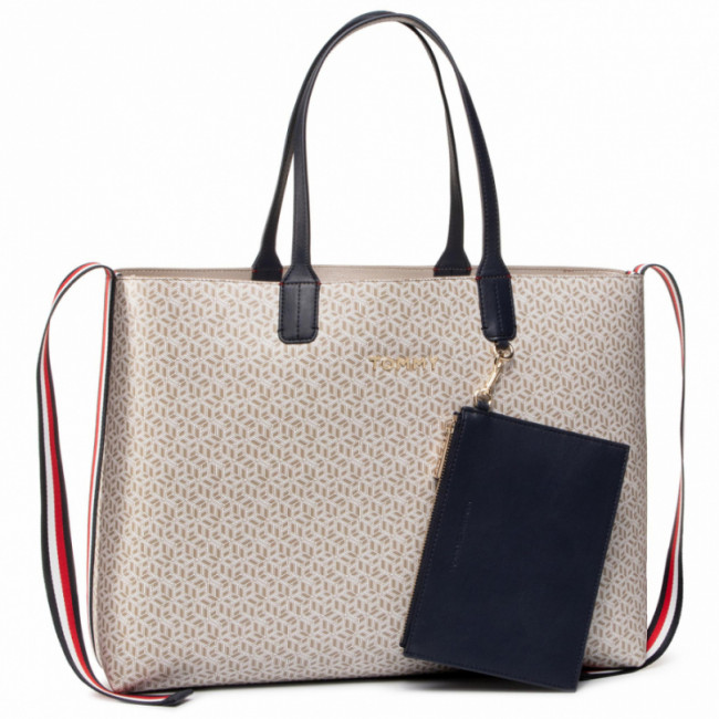 Kabelka TOMMY HILFIGER - Iconic Tommy Tote Monogram AW0AW08318 AEP