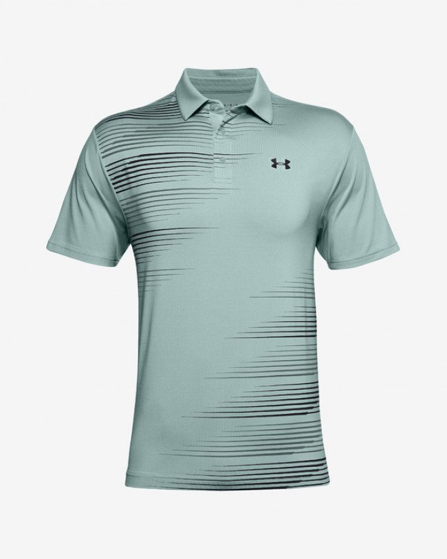 Under Armour Playoff 2.0 Polo tričko Zelená Šedá