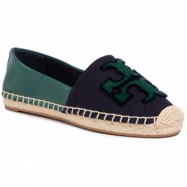Espadrilky TORY BURCH - Ines Fil Coupe Espadrille 64120 Perfect Navy/Malachite 426