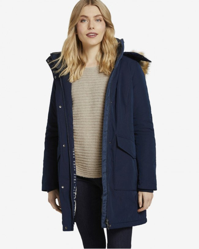 Tom Tailor Winter Parka Modrá