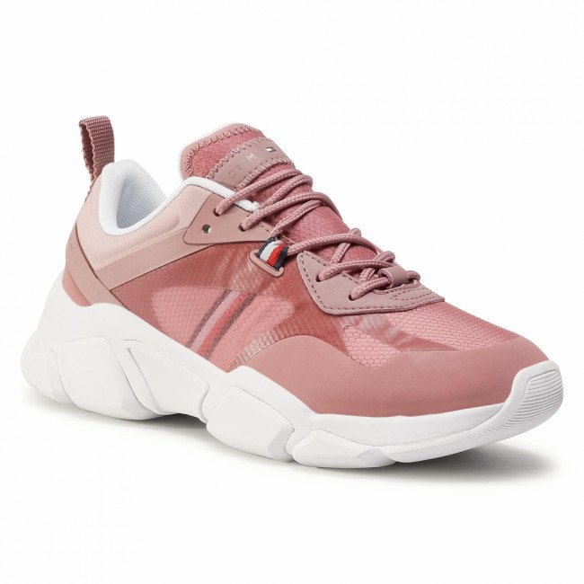 Sneakersy TOMMY HILFIGER - Technical Chunky Tommy Sneaker FW0FW04996 Misty Red XMY