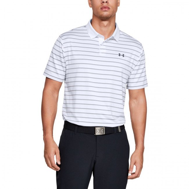 Tričko Under Armour Performance Polo 2.0 Divot Stripe-WHT
