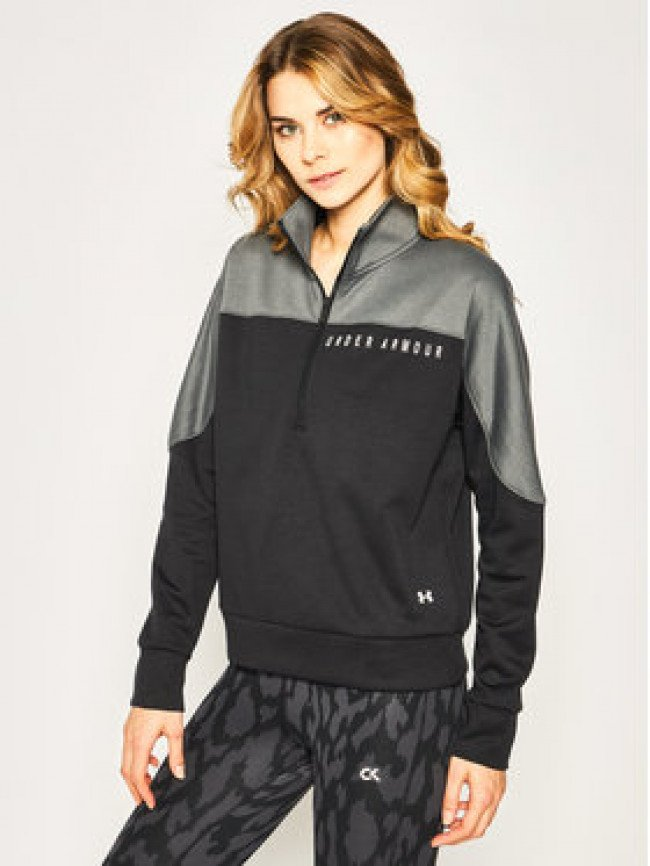 Under Armour Mikina Ua Recover Knit ½ Zip 1351898 Čierna Loose Fit