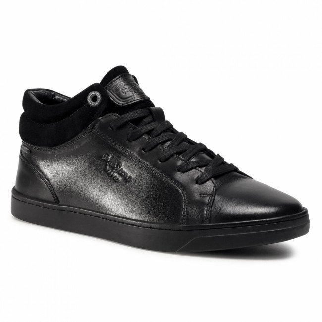 Sneakersy PEPE JEANS - Doc Lth PMS30693  Black 999