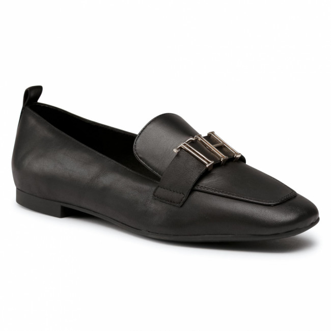 Lordsy TOMMY HILFIGER - Polished Tommy Loafer FW0FW05139 Black BDS