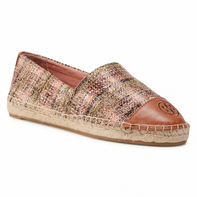 Espadrilky TORY BURCH - Color Block Flat Espadrille 76257 Rose Gold Multi/Rose Gold Multi/Ambra 683