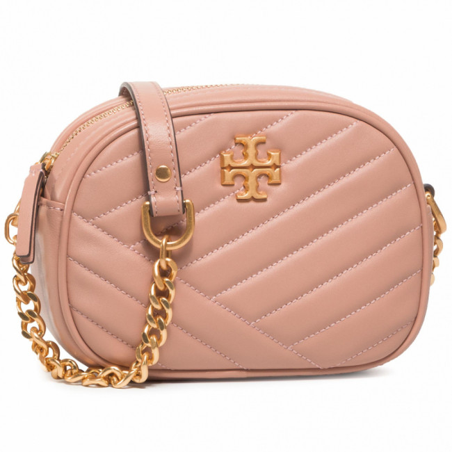 Kabelka TORY BURCH - Kira Chevron Camera Bag 60227 Oink Moon/Rolled Brass 958