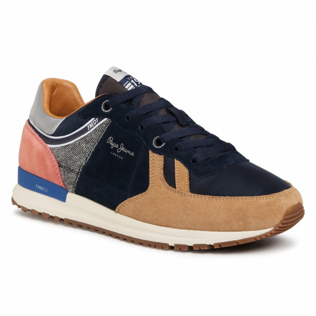 Sneakersy PEPE JEANS - Tinker Pro 73 Edt PMS30656 Camel 855