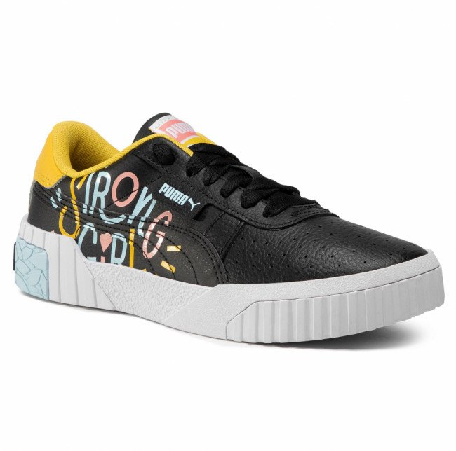 Sneakersy PUMA - Cali Superbold Jr 374270 02 Puma Black/Super Lemon