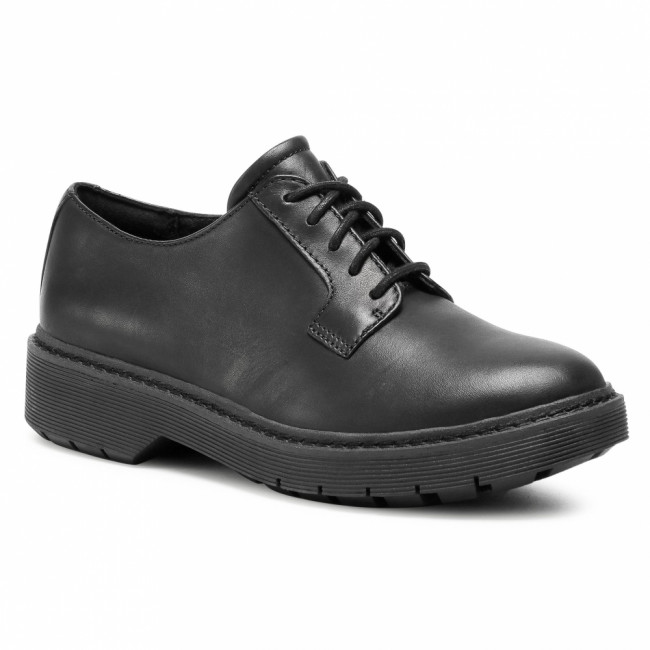 Oxfordy CLARKS - Witcombe Lace 261537164  Black Leather
