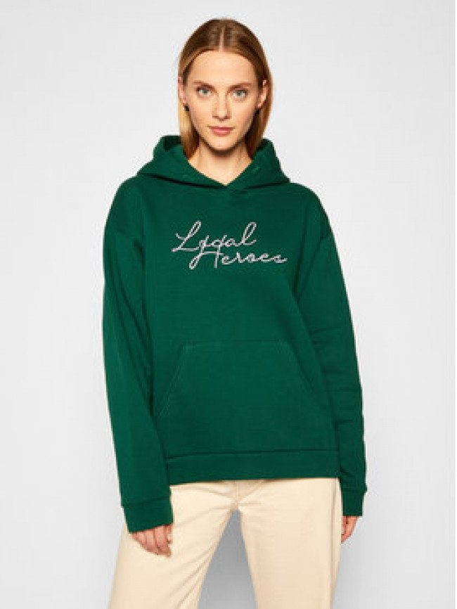 Local Heroes Mikina Need This AW2021S0013 Zelená Oversize