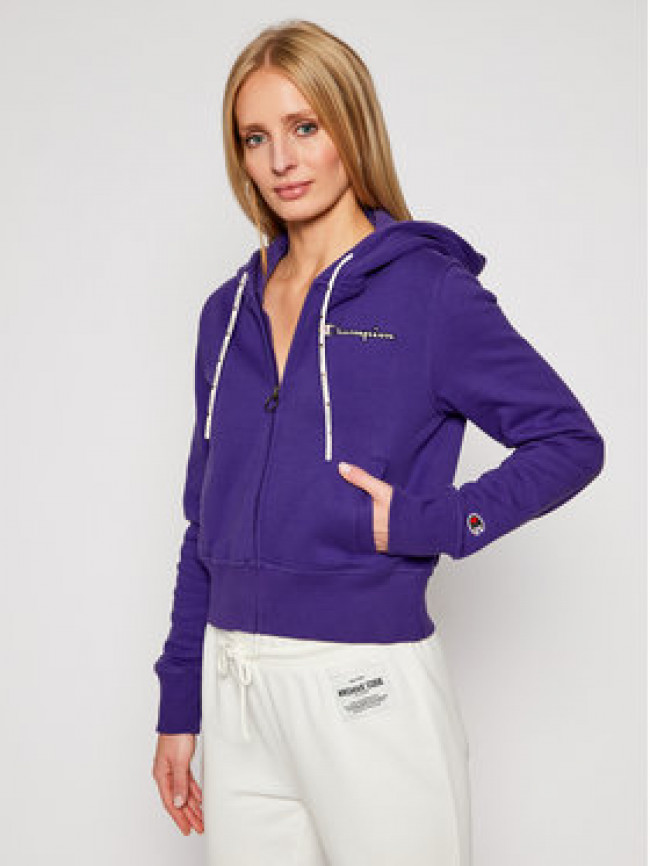 Champion Mikina Hooded 113187 Fialová Custom Fit