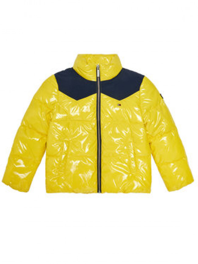 Tommy Hilfiger Vatovaná bunda Shiny Yoke Puffer KG0KG05384 M Žltá Regular Fit
