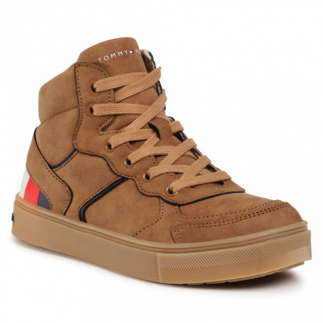 Sneakersy TOMMY HILFIGER - High Top Lace-Up Sneaker T3B4-30926-1030 M Tobacco 520