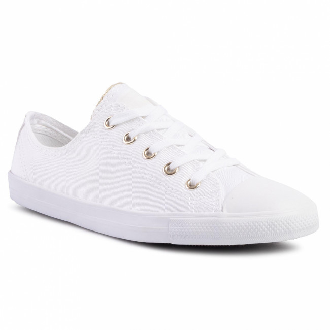 Tramky CONVERSE - Ctas Dainty Ox 564309C White/Edgret/Light Gold