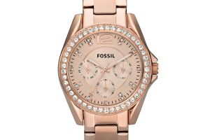Hodinky FOSSIL - Riley ES2811 Rose Gold/Rose