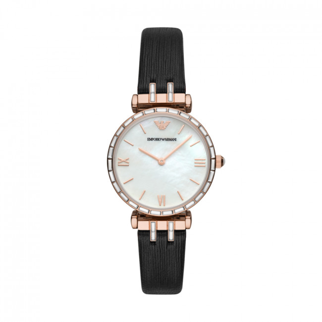 Hodinky EMPORIO ARMANI - Gianni T-Bar AR11295 Black/Rose Gold