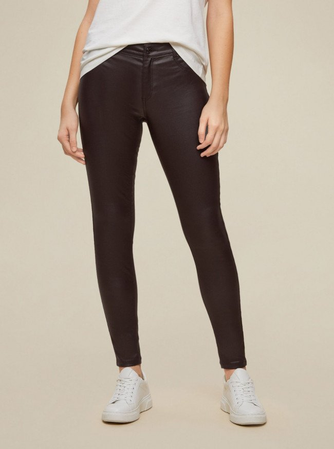 Dorothy Perkins hnedé skinny fit nohavice