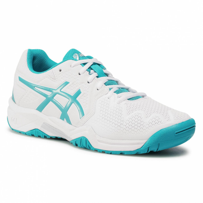 Topánky ASICS - Gel-Resolution 8 Gs 1044A018  White/Lagoon 106