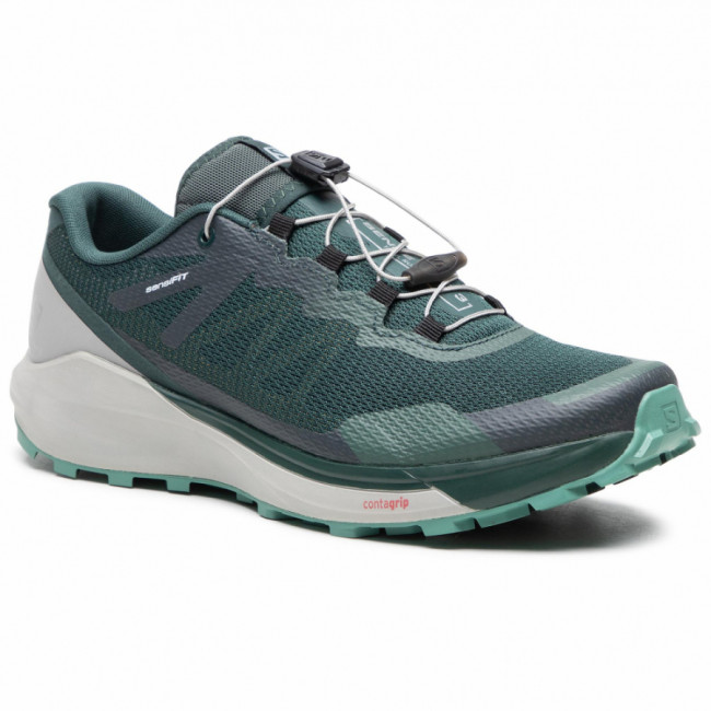 Topánky SALOMON - Sense Ride 3 411191 27 V0 Green Gables/Alloy/Oil Blue