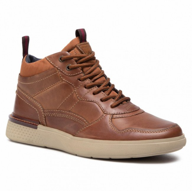 Sneakersy WRANGLER -  Discovery Mid WM02032A Cognac 064