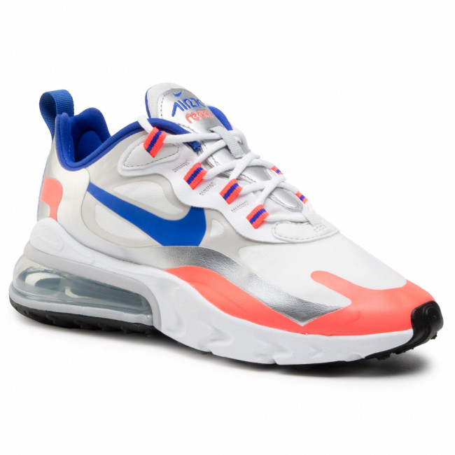 Topánky NIKE - Air Max 270 React CW3094 100 White/Racer Blue/Flash Crimson