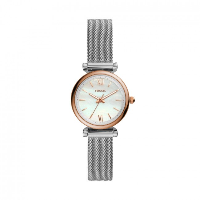 Hodinky FOSSIL - Carlie ES4614 Silver/Gold