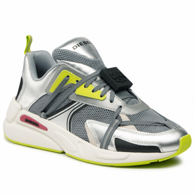 Sneakersy DIESEL - S-Serendipity Lc Evo Y02575 P3846 H8415 Monument/Silver/Lime Punch
