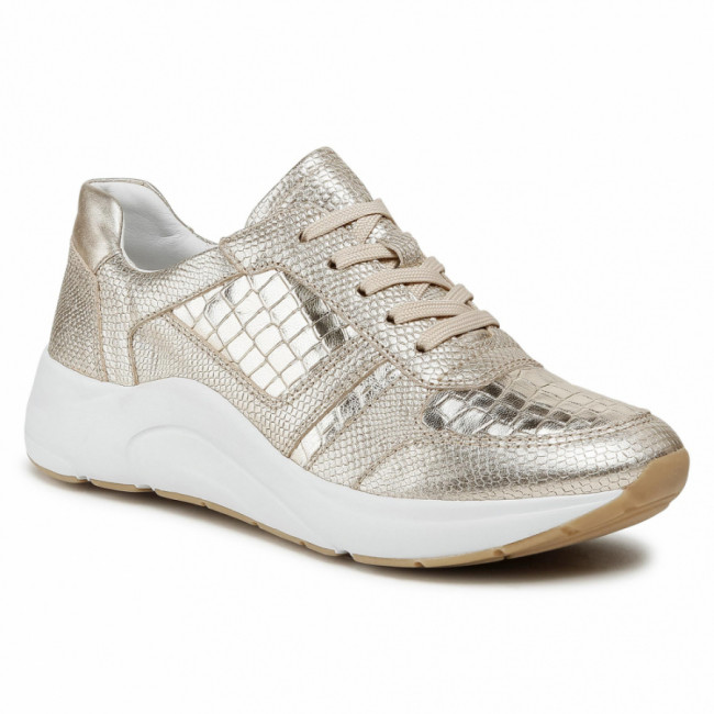 Sneakersy CAPRICE - 9-23716-26 Lt Gold Comb 977