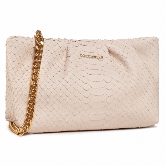 Kabelka COCCINELLE - H89 Ophelie Python Lulula E1 H89 19 02 01 Lambskin White N26