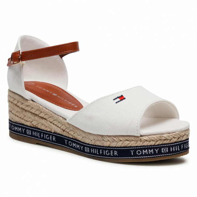 Espadrilky TOMMY HILFIGER - Rope Wedge Sandal T3A2-31056-0048 Off White 113