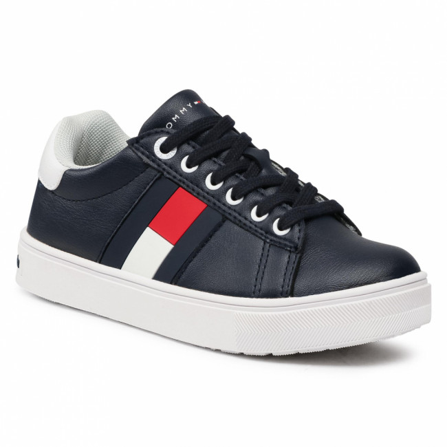 Sneakersy TOMMY HILFIGER - Low Cut Lace-Up Sneaker T3B4-30921-0900 M Blue/White X007