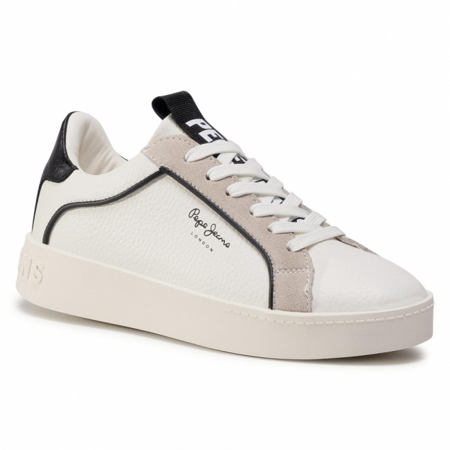 Sneakersy PEPE JEANS - Brixton Part PLS31024  White 800