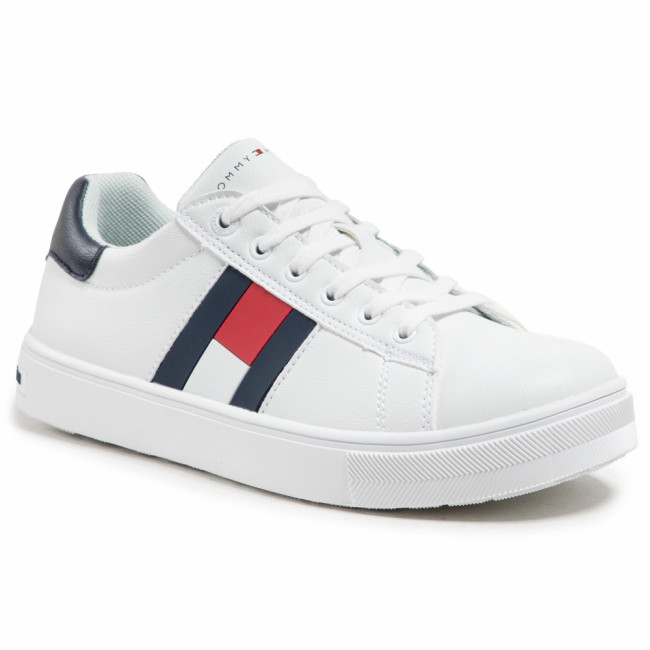 Sneakersy TOMMY HILFIGER - Low Cut Lace Up Sneaker T3B4-30921-0900 S White/Blue X336