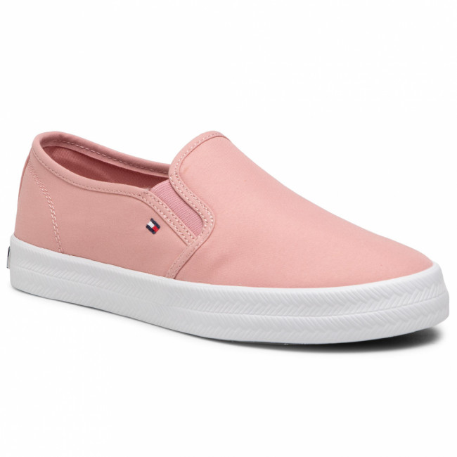 Tenisky TOMMY HILFIGER - Essential Nautical Slip On FW0FW05535 Soothing Pink TQS