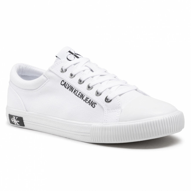 Tramky CALVIN KLEIN JEANS - Vulcanized Sneaker Laceup Co YM0YM00014 Bright White YAF