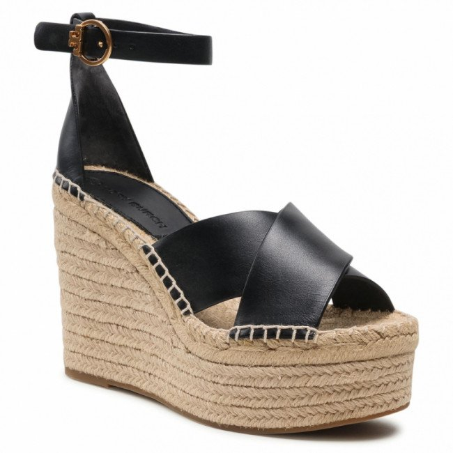 Espadrilky TORY BURCH - Selby 63522 Perfect Black/Perfect Black 004