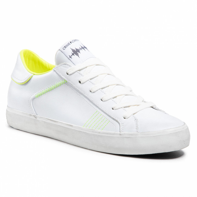 Sneakersy CRIME LONDON - Low Top Distressed 11405PP3.10 White