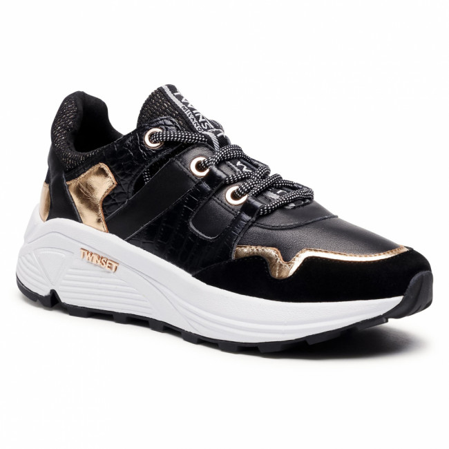 Sneakersy TWINSET - Running 202TCP072 St.Cocco Nero 04291