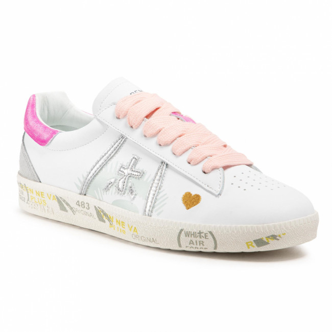 Sneakersy PREMIATA - Andyd 3903 White/Light Grey/Pink