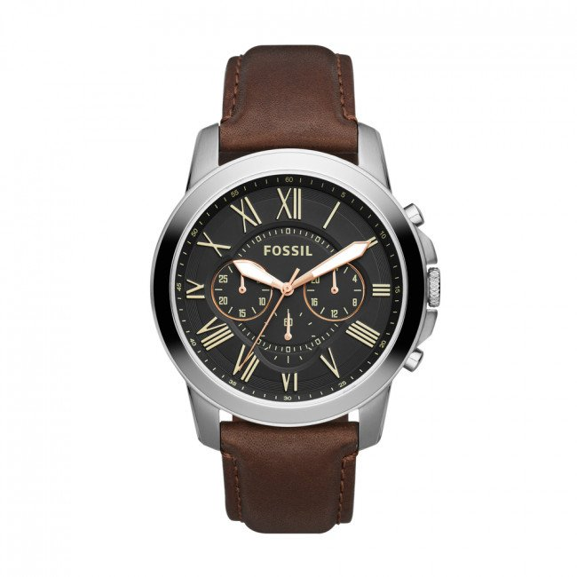 Hodinky FOSSIL - Grant FS4813IE Brown/Silver