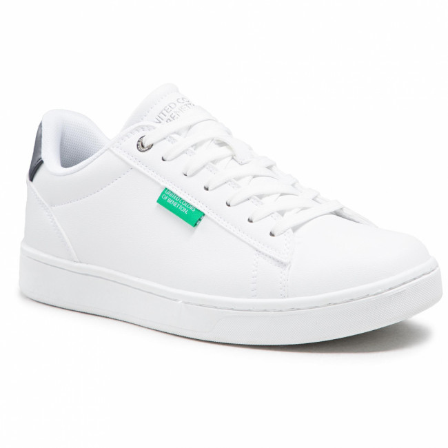 Sneakersy UNITED COLORS OF BENETTON - Label BTMCO4016  White/Deep 1032