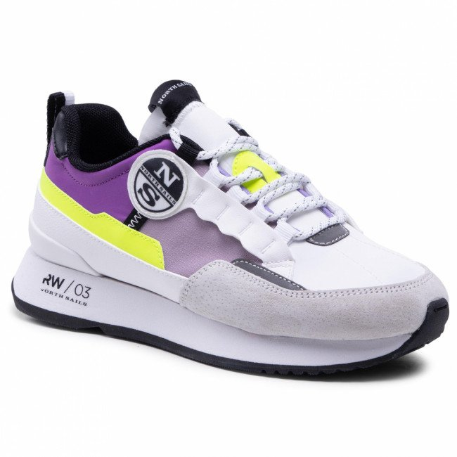 Sneakersy NORTH SAILS - RW/03 Reef -039 White/Lavender/Yellow Fluo