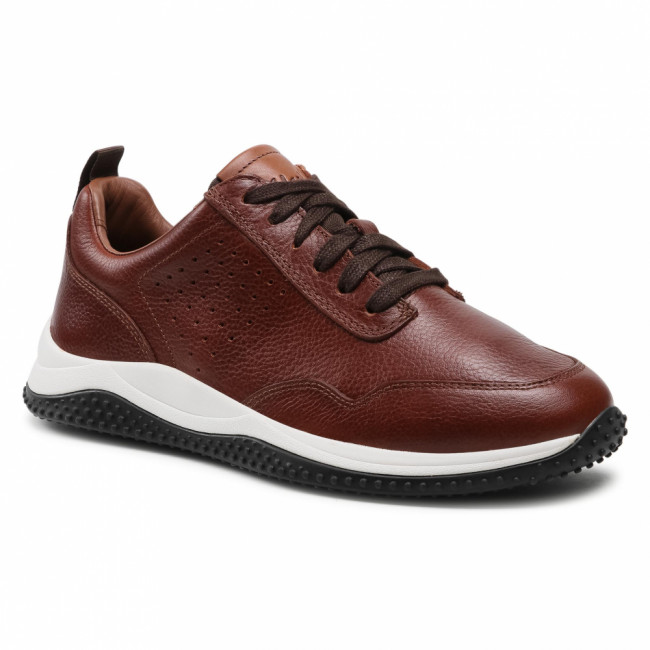 Sneakersy CLARKS - Puxton Lace 261578287 Tan Leather