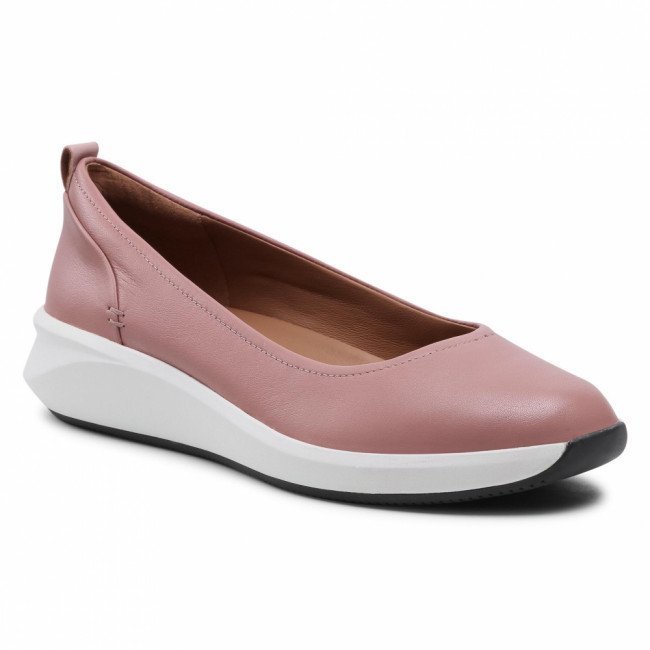 Poltopánky CLARKS - Un Rio Vibe 261590864  Dusty Pink Leather