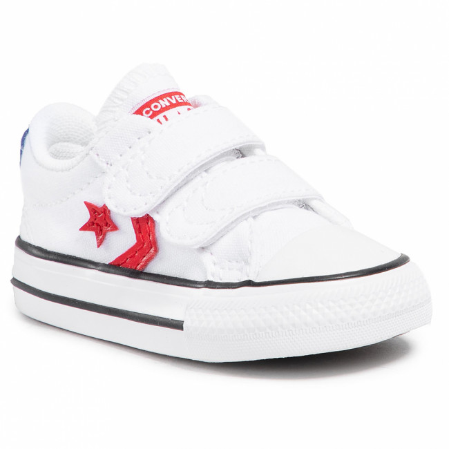 Tramky CONVERSE - Star Player 2V Ox 770228C White/University Red/Blue