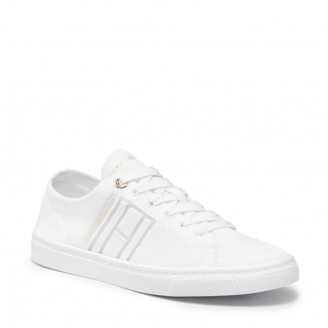 Tenisky TOMMY HILFIGER - Knitted Light Cupsole FW0FW05790 White YBR