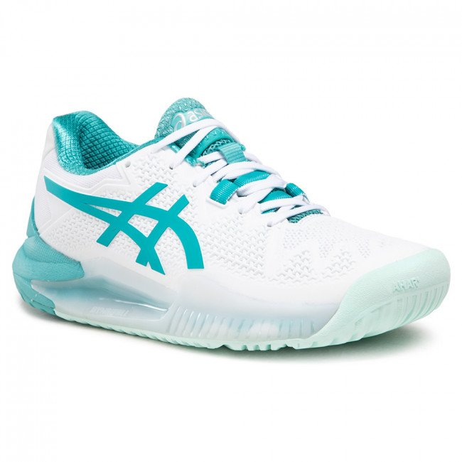 Topánky ASICS - Gel-Resolution 8 1042A072 White/Lagoon 106